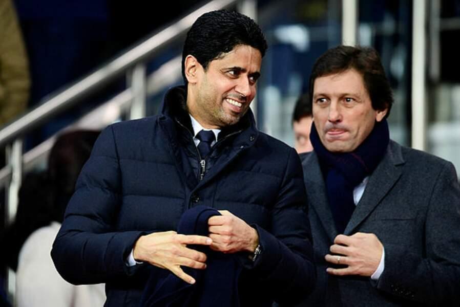 Une formalité semblent se dire Nasser al-Khelaïfi (PDG du PSG) et Leonardo (son directeur sportif)