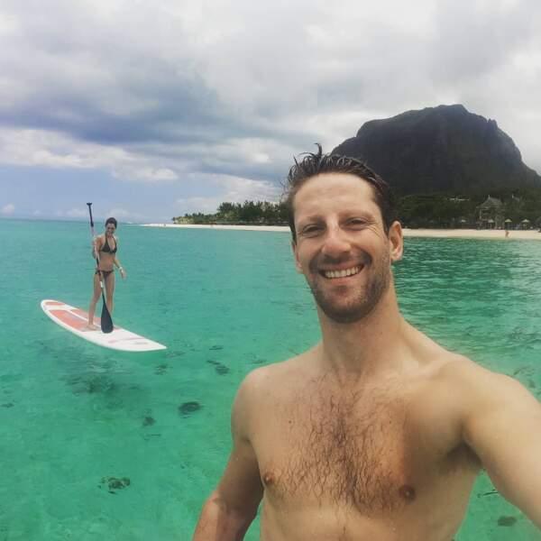 Le couple a choisi l'Île Maurice pour se ressourcer