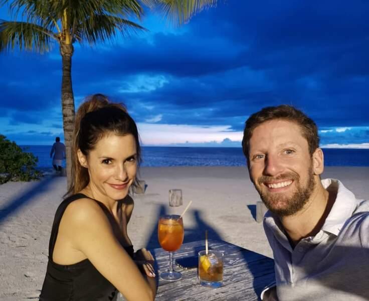Marion et Romain Grosjean nous font rêver avec leurs photos de vacances...