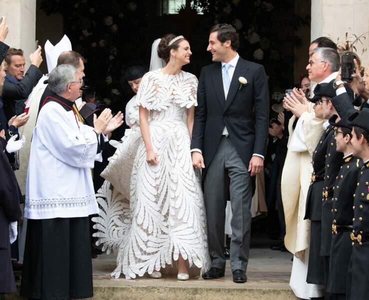 Le prince Jean-Christophe Napoleon, descendant de l'Empereur, s'est marié avec la comtesse Olympia Von Arco-Zinneberg, issue de la maison des Habsbourg, le 19 octobre
