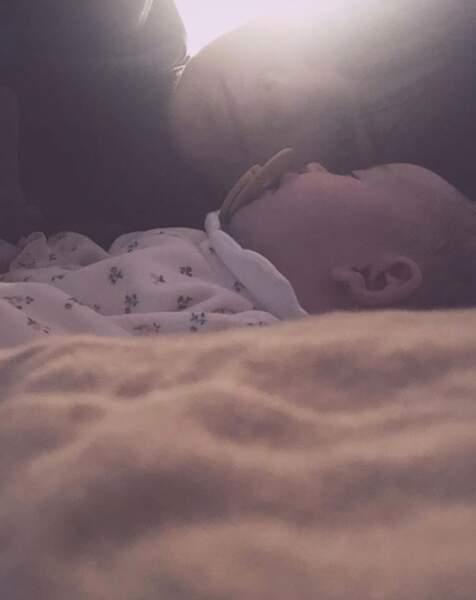 Alizée et sa petite Maggy.