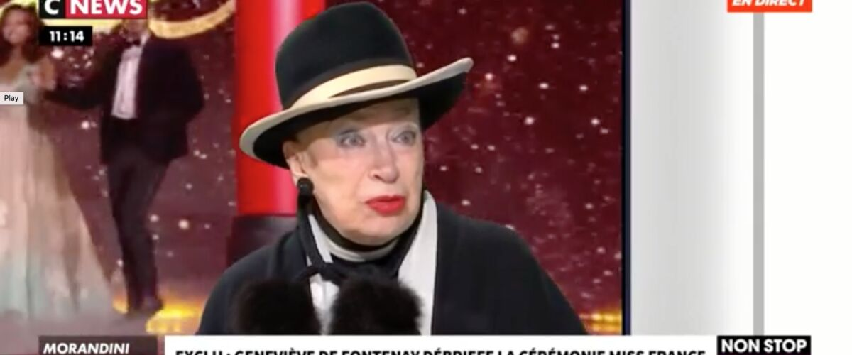 """Miss France 2020. Geneviève de Fontenay dézingue la cérémonie : """"Les chorégraphies étaient nulles et les maill"""