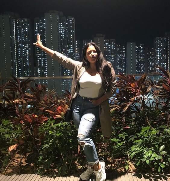 Lydia partage une photo sur le tournage des Anges 12 à Hong Kong
