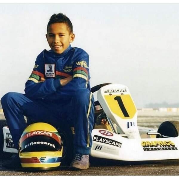 Ou une photo de lui plus jeune sur un kart !