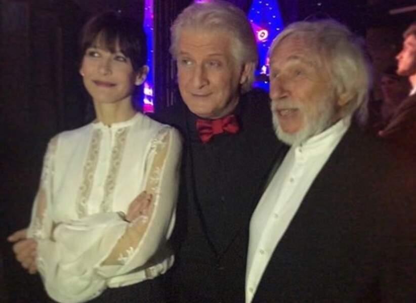 Avec Patrick Sébastien et Pierre Richard