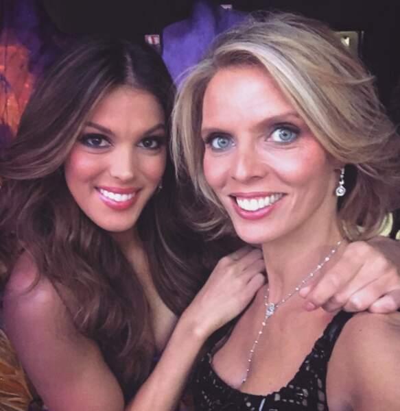 Elle était bien sûr derrière Iris Mittenaere lors de l'élection de Miss Univers