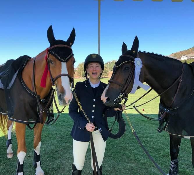 Tout comme son mari, Kaley Cuoco adore monter à cheval