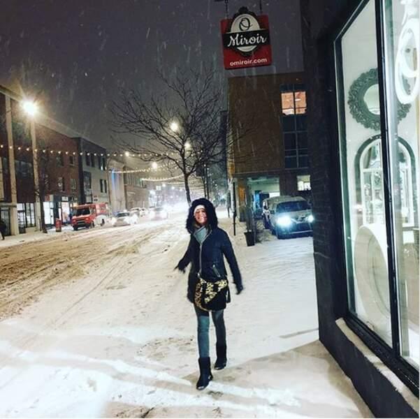 Sandrine Quétier préfère la neige