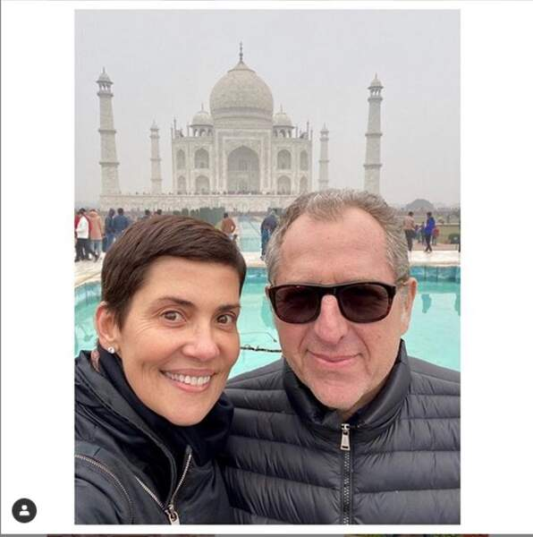 Cristina Cordula et son mari sont eux en Inde