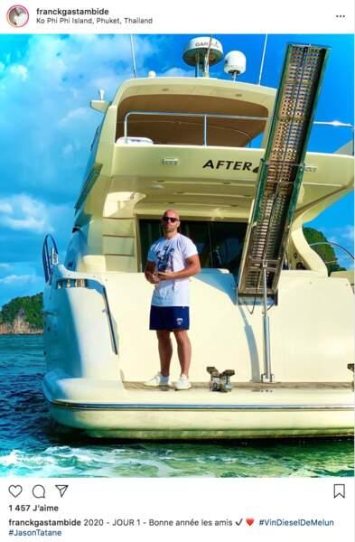 """Franck Gastambide a débuté 2020 en Thaïlande. Le """"Vin Diesel de Melun"""" n'était pas à Pattaya mais sur l'île mythique de Koh Phi Phi"""