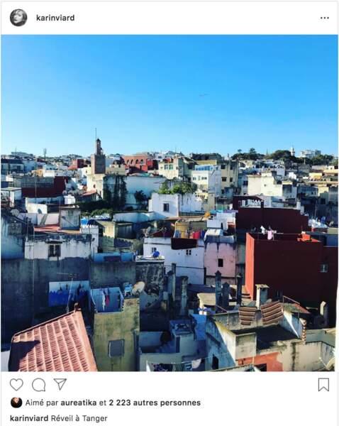 Karin Viard passe les fêtes au Maroc en famille et a partagé une photo de Tanger au réveil