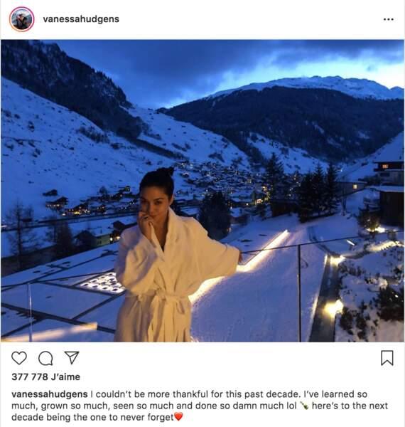 Vanessa Hudgens est au ski