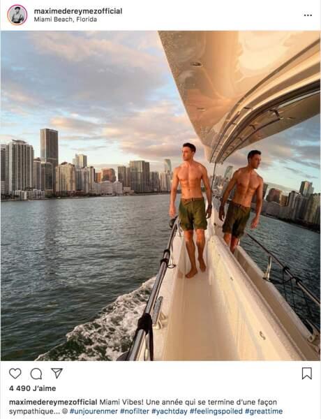 Maxime Dereymez se la coule douce à Miami