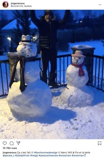 Jean-Marc Généreux a fait des bonhommes de neige dans son Québec natal