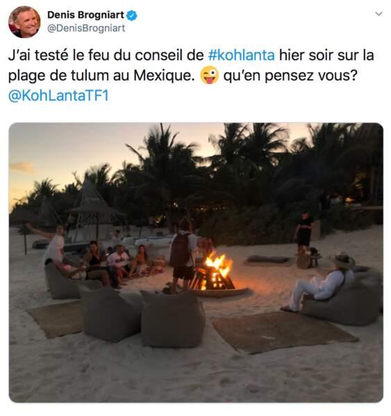 Denis Brogniart a aussi opté pour le Mexique. Mais il est de l'autre côté du pays, à Tulum, sur la côte caraïbe