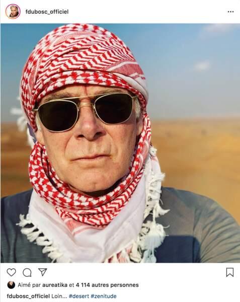 Franck Dubosc et les siens ont démarré 2020 dans un désert lointain