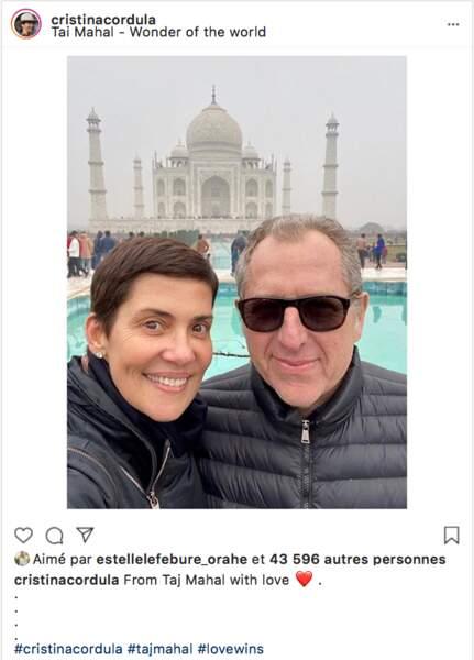 Cristina Cordula s'est offert une fin d'année avec son mari au Taj Mahal, en Inde