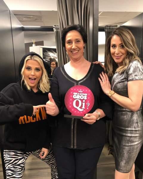 Avec les copines de TPMP, Kelly Vedovelli et Danielle Moreau.