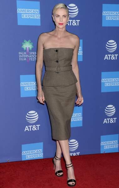 L'actrice était divine dans une robe moulante