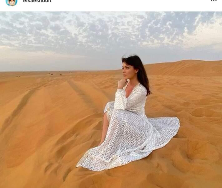 ou encore Elsa Esnoult, carrément en plein désert !