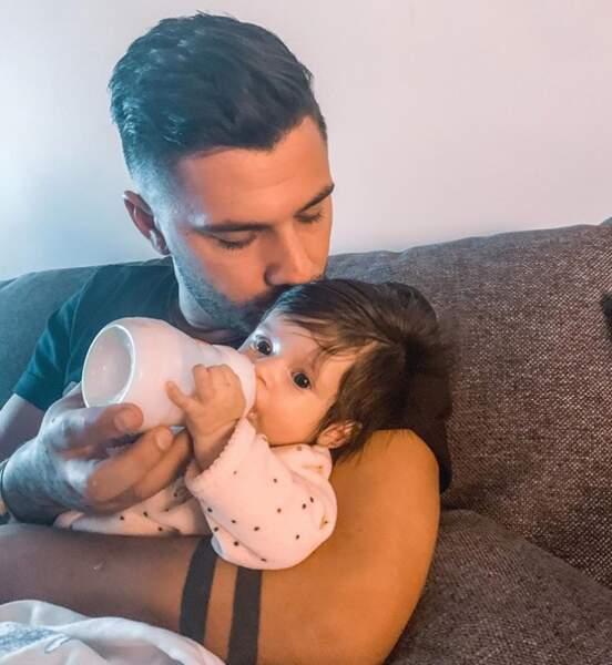 Ruby Guedj a fêté ses trois mois dans les bras de son papa, le 2 janvier 2020