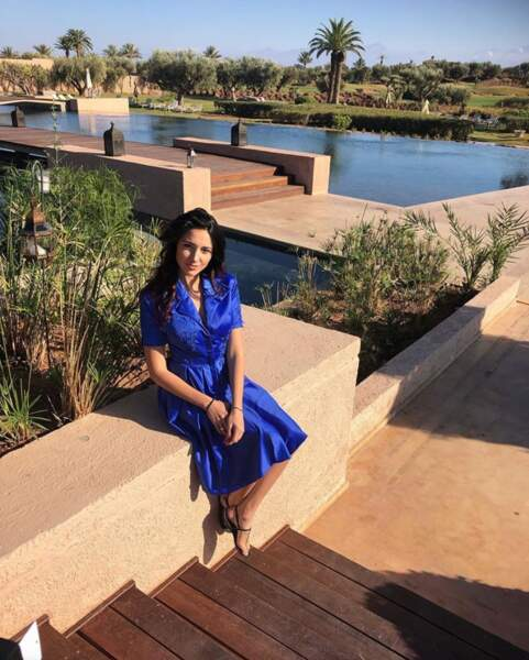 Delphine Wespiser se repose à Marrakech