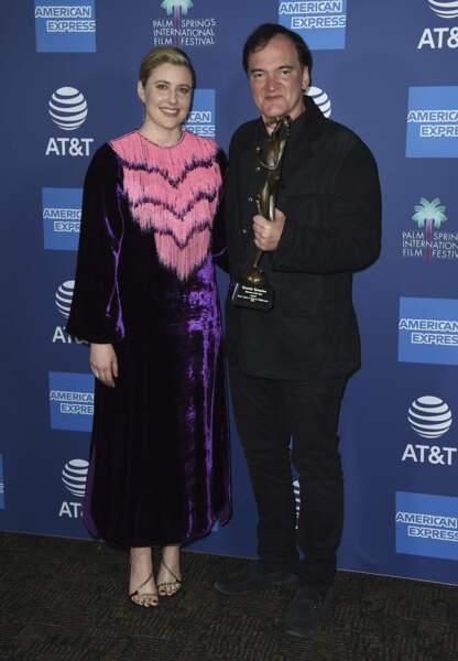 Ici le réalisateur avec Greta Gerwig