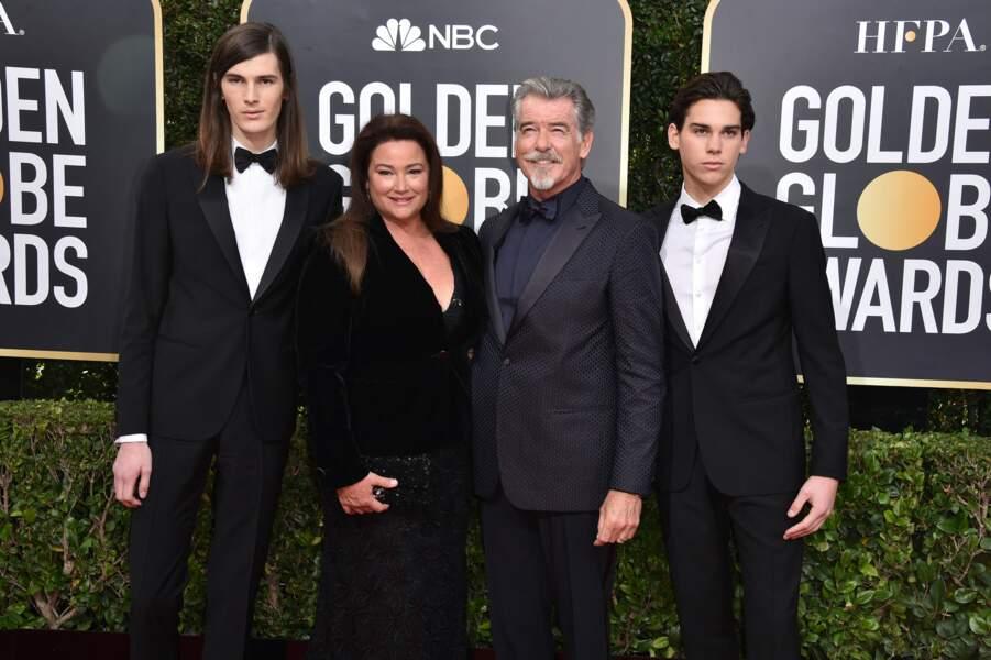 Pierce Brosnan, sa femme et ses deux fils