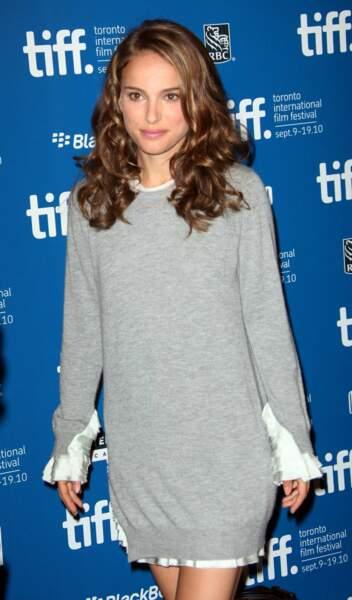 """Début de la promo du film """"Black Swan"""" ici à Toronto en 2010 : véritable succès qui vaut à Natalie pas moins de 22 récompenses !"""