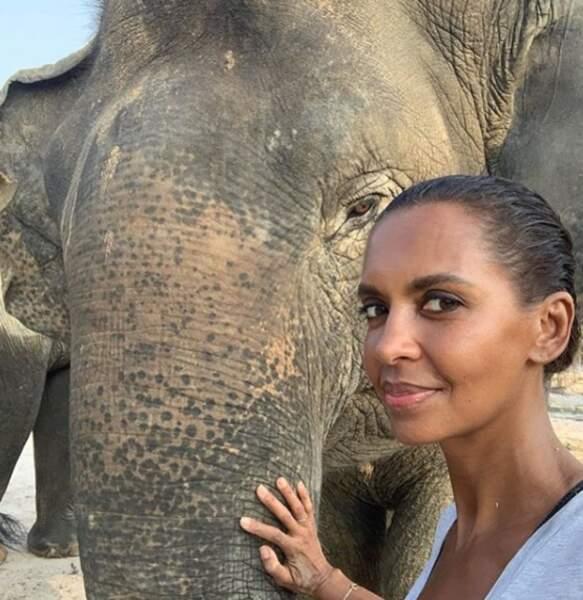 Dernièrement, c'est au Cambodge que l'animatrice s'est rendue en famille. Elle a notamment pu approcher de très près de magnifiques éléphants.