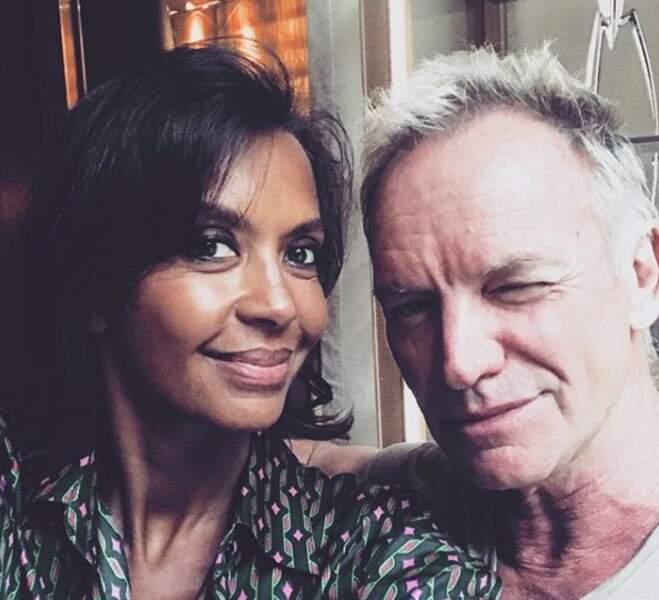 Elle a également croisé (par hasard ?) le chanteur Sting !
