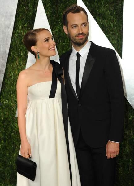 Leur petit garçon, Aleph, est né en juin 2011. L'année suivante, Natalie et Benjamin se marient en Californie. Ils apparaissent ici très amoureux aux Vanity Fair Oscars de 2013