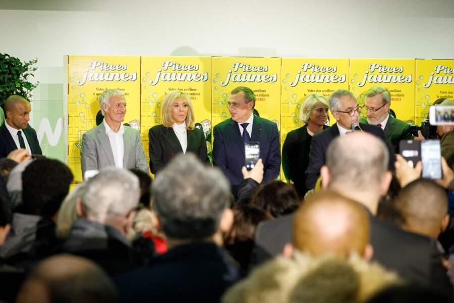 Brigitte Macron et Didier Deschamps ont donné ensemble le coup d'envoi des Pièces Jaunes 2020 à Orléans