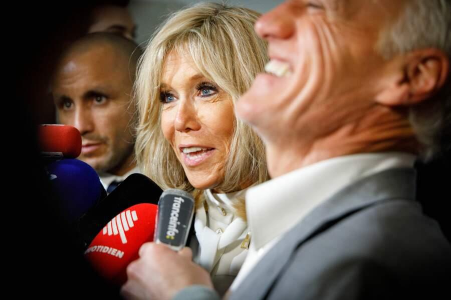Et ce qu'a dit l'épouse du président a visiblement beaucoup amusé l'ancien footballeur !