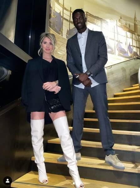 Mbaye Niang (Rennes) et Emilie Fiorelli (Secret Story)