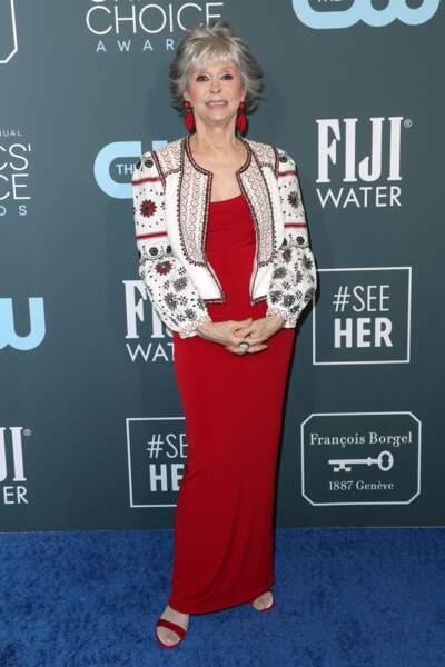 Rita Moreno a illuminé le red carpet avec sa bonne humeur communicative