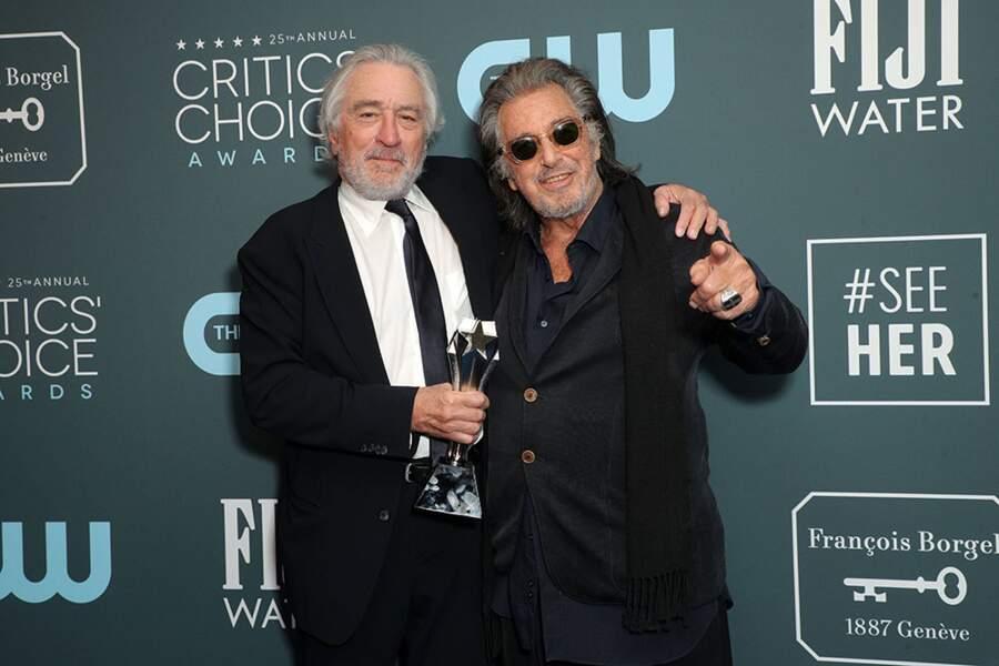 Robert De Niro et Al Pacino ont gagné le prix de la Meilleure distribution pour le long métrage The Irish Man