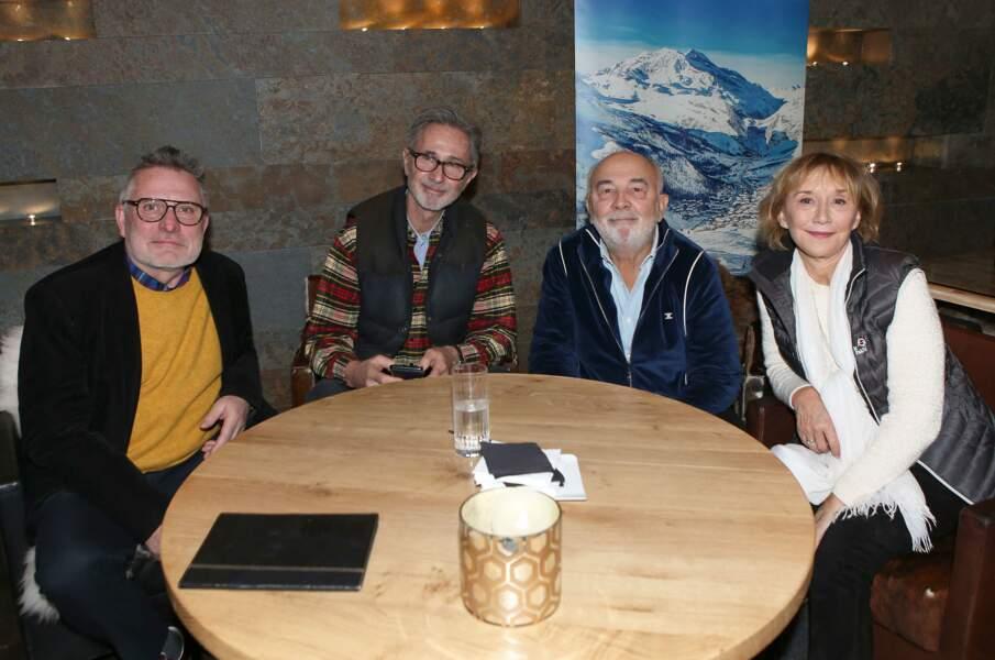 Bruno Moynot, Thierry Lhermitte, Gérard Jugnot et Marie-Anne Chazel