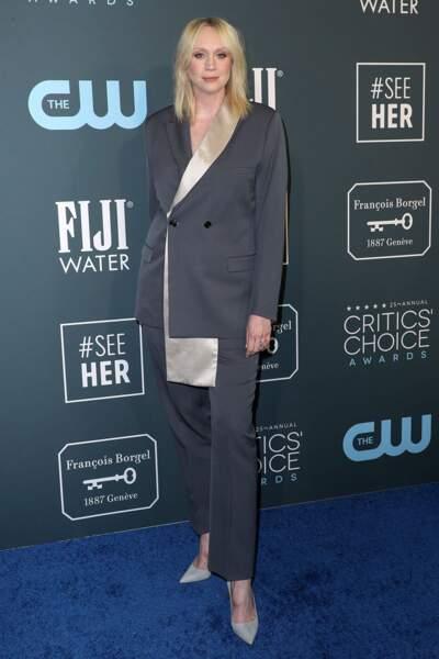 Gwendoline Christie, l'ancienne interprète de Brienne dans Game of Thrones, portait un costume taillé (presque) sur mesure !
