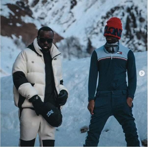 Gims et Dadju s'éclatent au ski