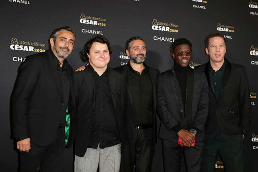 L'équipe de Hors norme (Olivier Nakache, Benjamin Lesieur, Eric Toledano, Bryan Mialoundama et Reda Kateb)