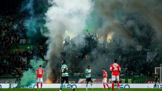 Un début d'incendie provoque l'interruption du match Sporting Portugal-Benfica Lisbonne