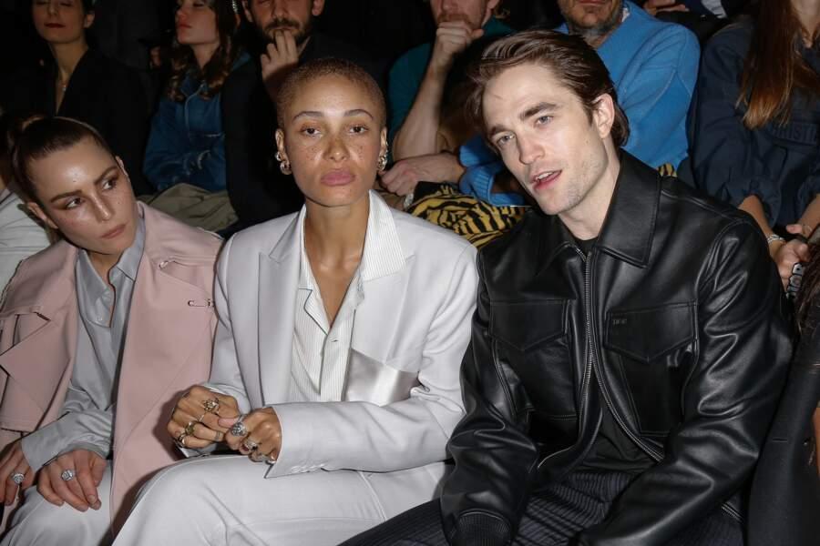 Noomi Rapace, Adwoa Aboah et Robert Pattinson au défilé Dior Homme
