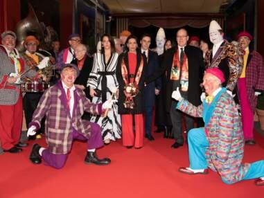La princesse Stéphanie avec ses enfants Camille Gottlieb, Pauline et Louis Ducruet au 44e Festival du cirque de Monaco