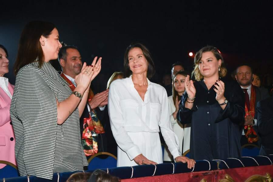 Troisième jour du Festival : Pauline Ducruet, la princesse Stéphanie et Camille Gottlieb samedi 18 janvier 2020