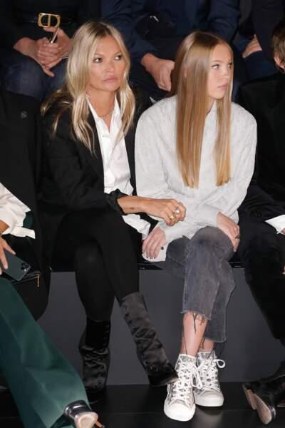 Kate Moss et sa fille Lila Grace Moss Hack au défilé Dior Homme