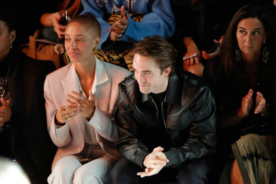 Adwoa Aboah, Robert Pattinson et Elisabetta Beccari au défilé Dior Homme