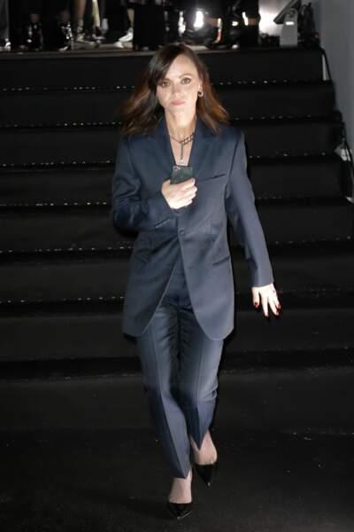 Christina Ricci au défilé Dior Homme