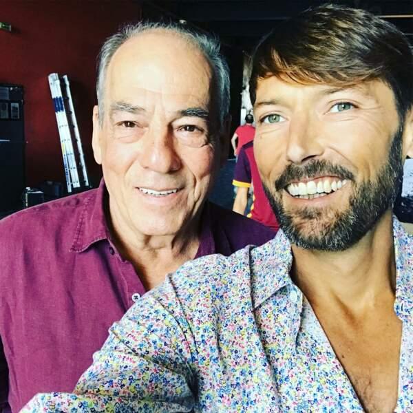 Laurent Kérusoré avec son papa de fiction, Michel Cordes
