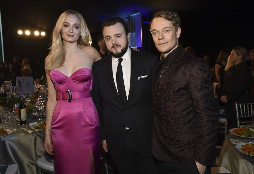 Sophie Turner, John Bradley et Alfie Allen de Game of Thrones
